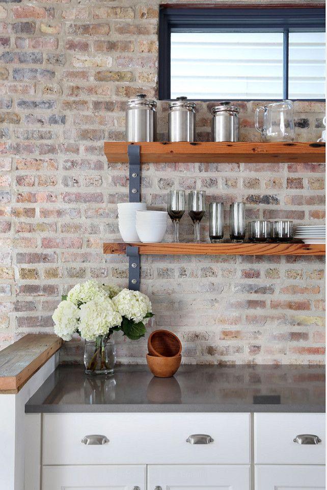 Best 25 Whitewash brick backsplash ideas on Pinterest