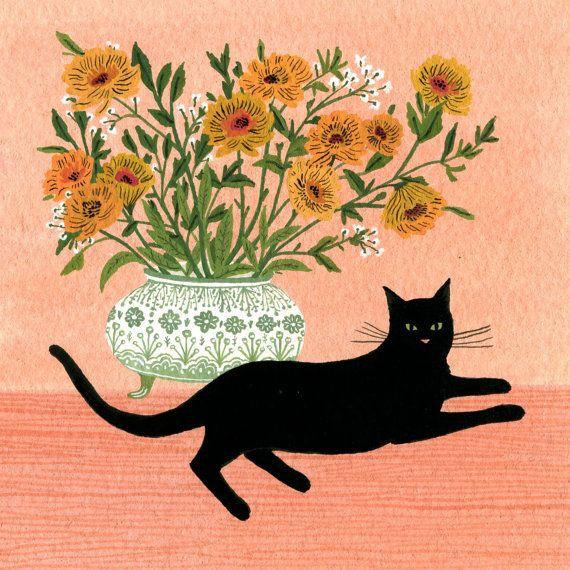 Black Cat by beccastadtlander on Etsy, $25.00