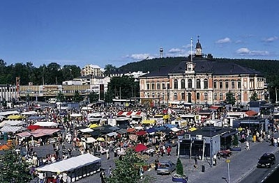 Kuopio - Downtown Kuopio, (Finland) - This place is called the 'Downtown Shopping Center' because of the many stores, shops and places to eat. In the center there are vendors selling anything from clothing to food and coffee...