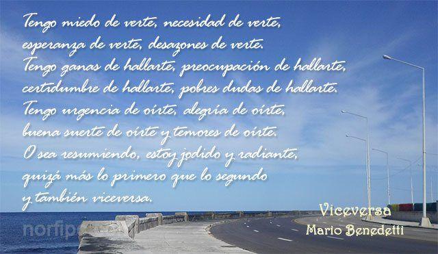 Poema de Mario Benedetti, Viceversa