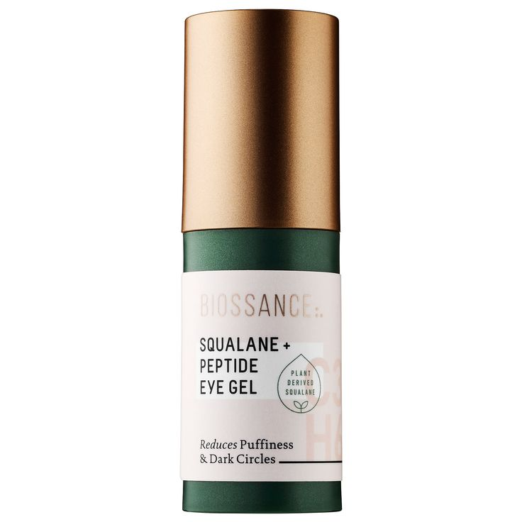 Shop Biossance's Squalane + Peptide Eye Gel at Sephora. This weightless eye gel reduces puffiness and dark circles.