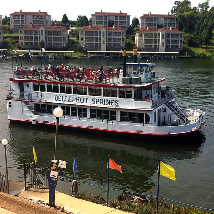 The Belle of Hot Springs offers 15-mile sightseeing cruises year-round on Lake Hamilton in Hot Springs, Arkansas