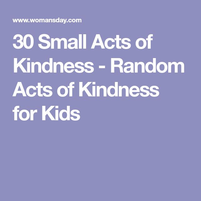30 Small Acts of Kindness - Random Acts of Kindness for Kids