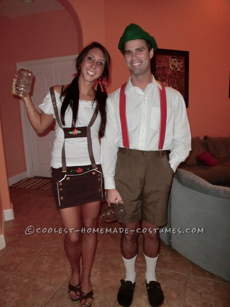 Funny Homemade Couple Costume: Stereotypical Germans… Enter the Coolest Halloween Costume Contest at http://ideas.coolest-homemade-costumes.com/submit/
