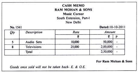 Cash Memo bill format in MS word template, check some editable template of invoice
