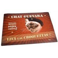Tapis pour gamelle CHAT GUEVARA Natives déco rétro vintage humoristique