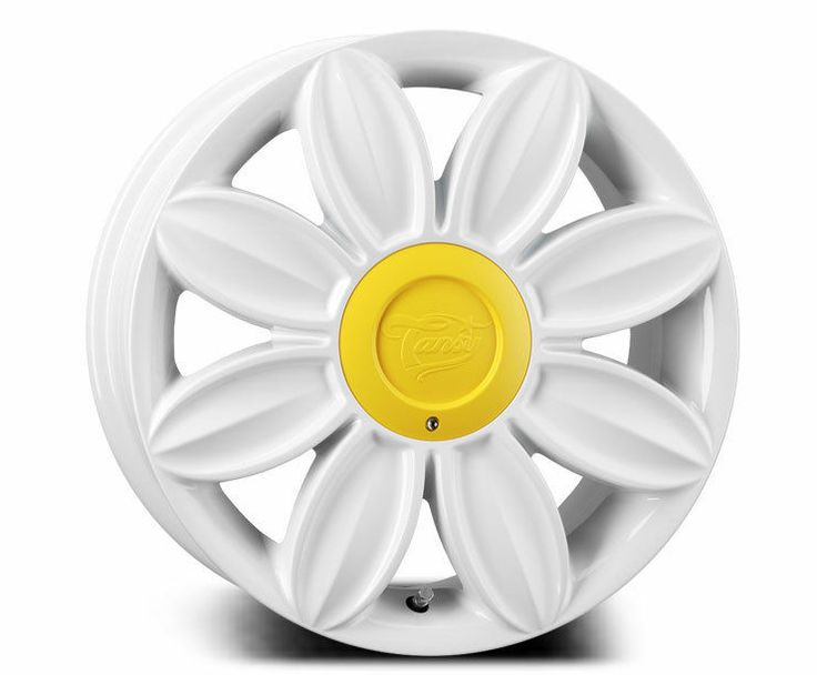 16x7.0 TANSY Daisy Alloy Wheels Finished in White for VW Beetle & Convertable