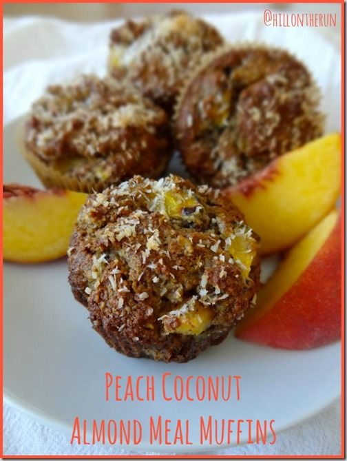 Peach Coconut Almond Meal Muffins - Dairy-free, Gluten-free & refined ...