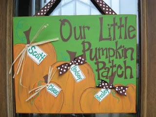 Personal Pizazz by Lindsey: Pumpkin PatchHalloween Canvas, Fall Decor, Fall Crafts, Easy Crafts, Pumpkin Sign, Doors Signs, Pumpkin Patches, Fall Canvas Painting, Personalized Pizazz