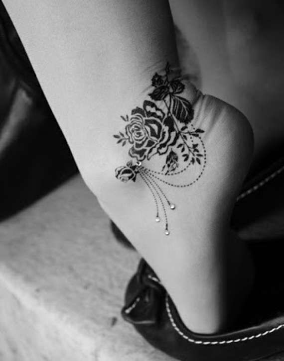 Adorable Ankle Tattoos for Girls (26)