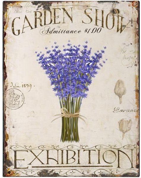 Lavender tin sign