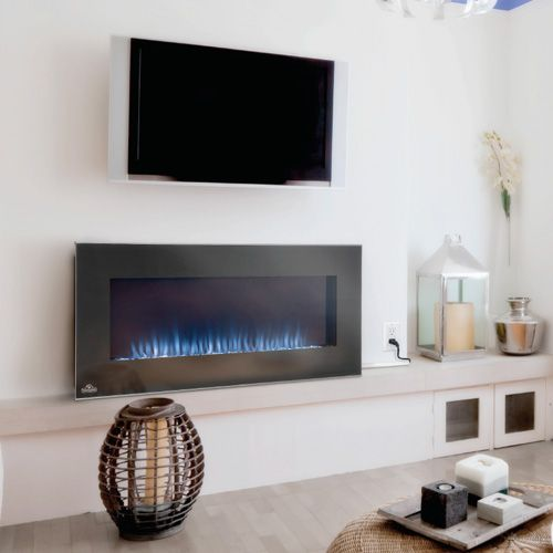 Napoleon efl42h azure built in wall mount electric for Bedroom electric fireplace