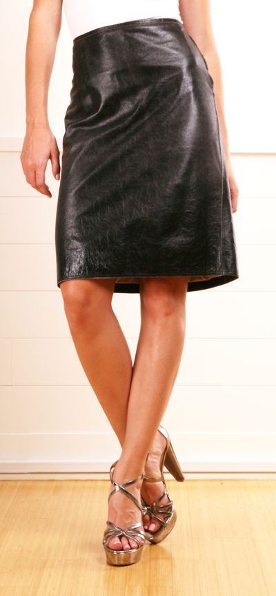 leather skirt