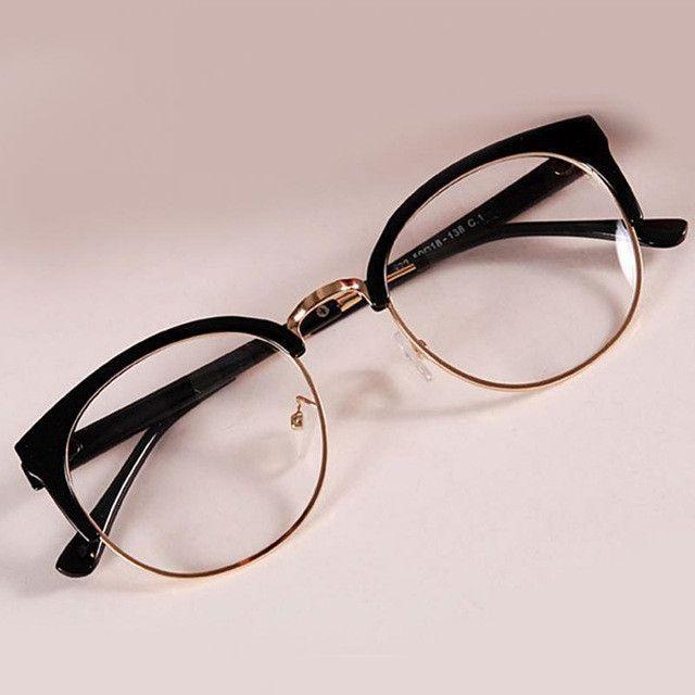 Nouveau style lunettes anti-rayonnement Lunettes de verre simple Mode femmes Mé…