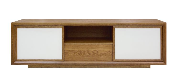 Brisa credenza, structure in solid wood and acid treated ...