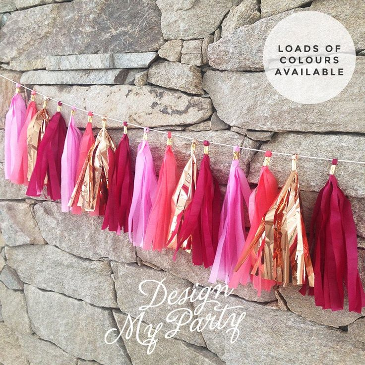 Passion Pop Glam Rose Gold with Coral Pink Tassel Garland