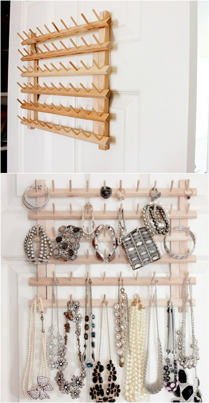 Perfect Ideas for DIY Jewelry Organizers  #diyjewelryholderpinterest #diyjewelryorganize #diyjewelryorganizers - Jewelry is one thing that every one of us loves to wear. But keeping it organized is completely a different thing and many of us are not so much perfe...