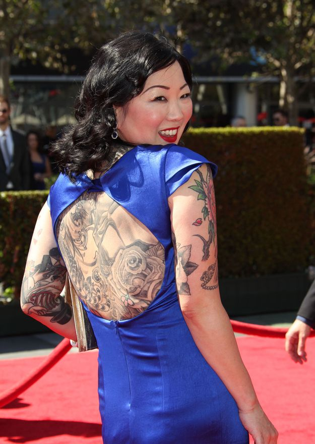"Margaret Cho is a fully enlightened fabulous diva who is utterly unabashed about sharing her struggles with addiction, racism, and an eating disorder. When a reporter once wondered aloud if her ""Korean family was ashamed"" of her, she shot back: ""Any family would be ashamed of me."" That's my mentor, of whom I am so proud. - article about Cho by Kenji Oshima"