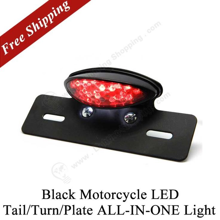 #LED #Motorcycle #Lights>>> Black Motorcycle LED Tail/Turn/Plate ALL-IN-ONE Light,  http://www.lightingshopping.com/black-motorcycle-led-tail-turn-plate-all-in-one-light.html