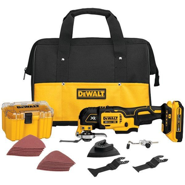DEWALT's 20V oscillating multi-tool is incredibly useful, with functions that range from sanding to sawing to cutting. The brushless motor delivers up to 57% more run time than equivalent brushed moto
