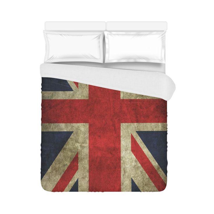"""GB Flag Duvet Cover Duvet Cover 86""""x70"""""""