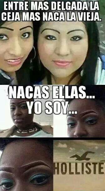 """Vieja naca. Desde las cejas hasta los collares de niña del dólar, """"you can't take the ghetto out of the hoodrat."""""""