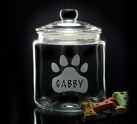 Etched Treat Jars