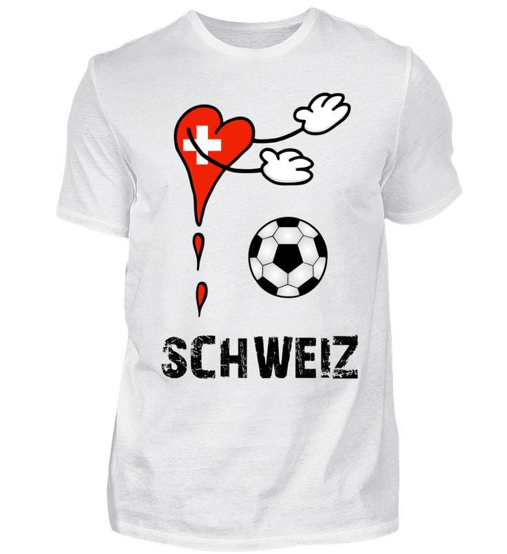 Flagge Fanshirt Schweiz Fußball T-Shirt