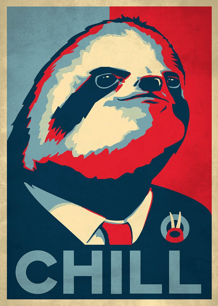 My Sloth parody on the famous Obama campaign poster.