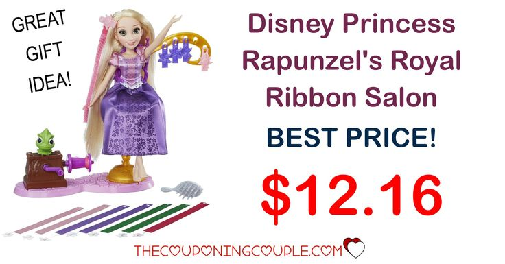 BEST PRICE AROUND! The Disney Princess Rapunzel's Ribbon Hair Salon is only $12.16! She will love fixing Rapunzel's hair!  Click the link below to get all of the details ► http://www.thecouponingcouple.com/disney-princess-rapunzels-royal-ribbon-salon/ #Coupons #Couponing #CouponCommunity  Visit us at http://www.thecouponingcouple.com for more great posts!