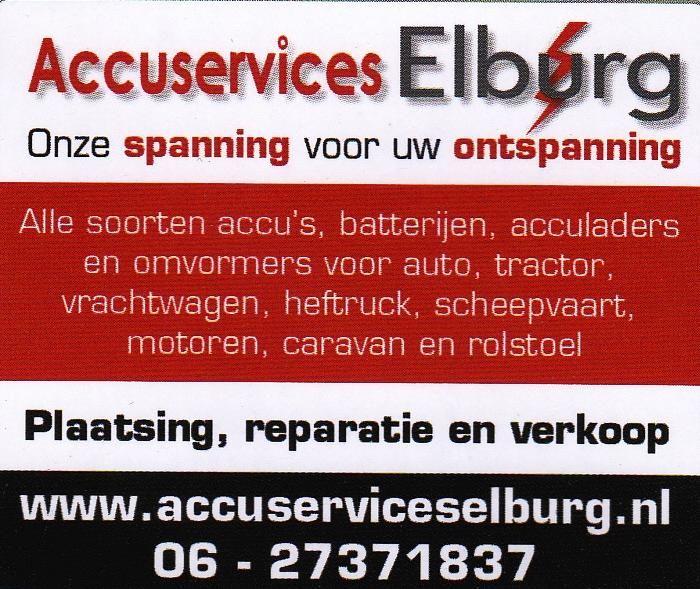 Accuservices Elburg - Bedrijf van R. Roering; een van onze sponsoren.