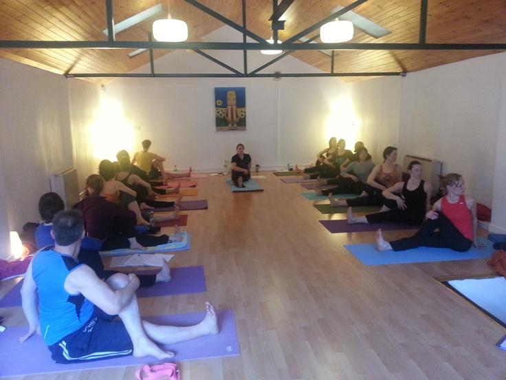 Twisting on YTTC teacher training course.  www.yogaireland.com