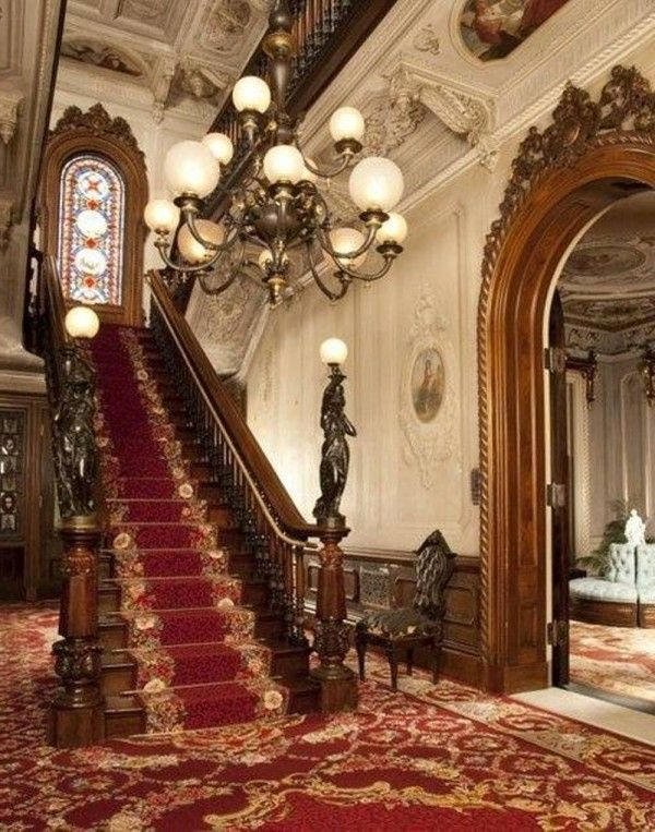 Pin By Peacock Feather On Grand Staircases In 2018 | Victorian Homes, Victorian  House Interiors, Victorian