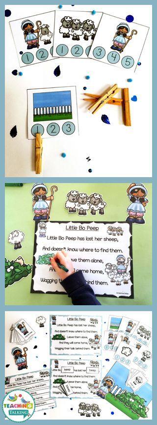 Nursery Rhyme Activity Pack - Little Bo Peep Theme