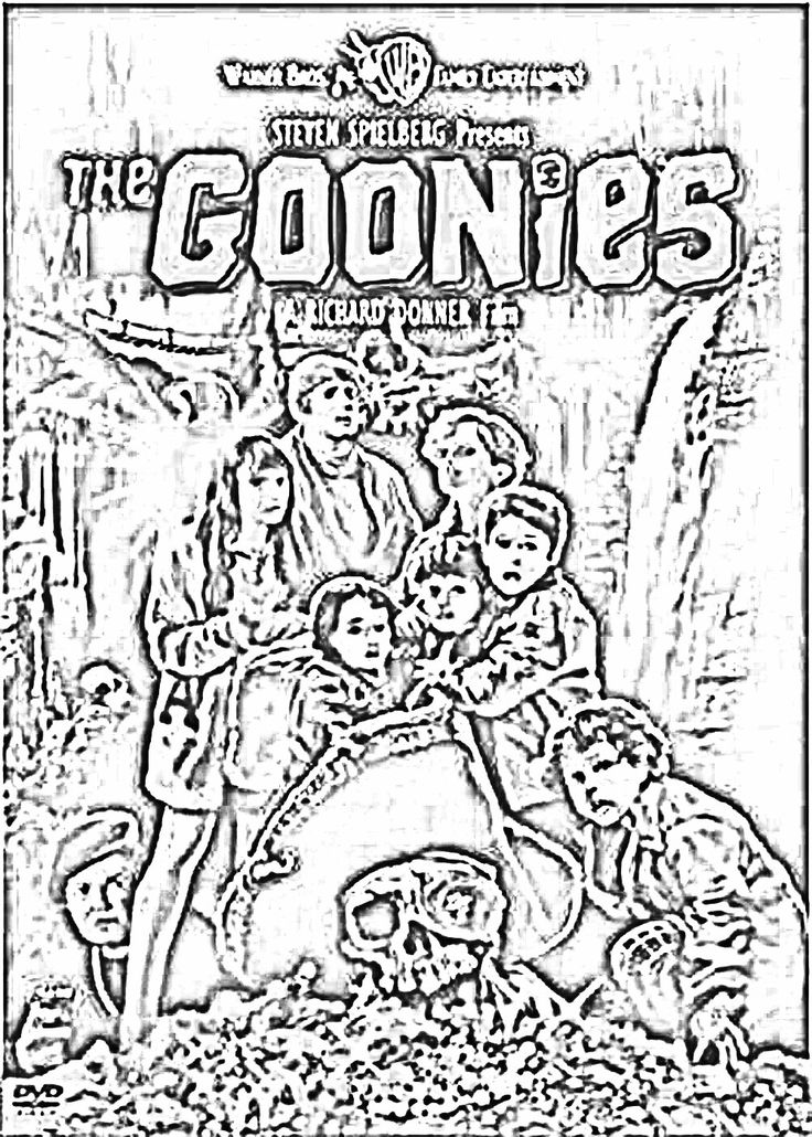 The Goonies Coloring Page Free Adult Coloring Pages