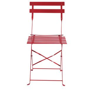 Set of 2 red chairs - Guinguette