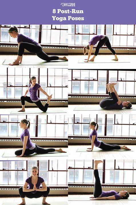 Post run #yoga poses to keep #healthy