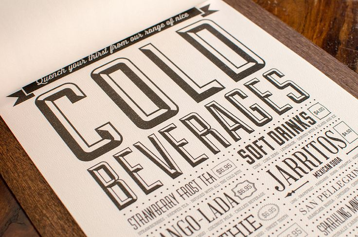 Menu design www.korolos.com/chinchillacoffeehouse