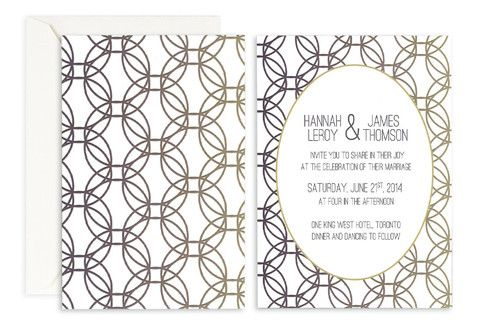 Moonlight Halos Wedding Invite – Jo's Paperie #wedding #gemetric #floral #template
