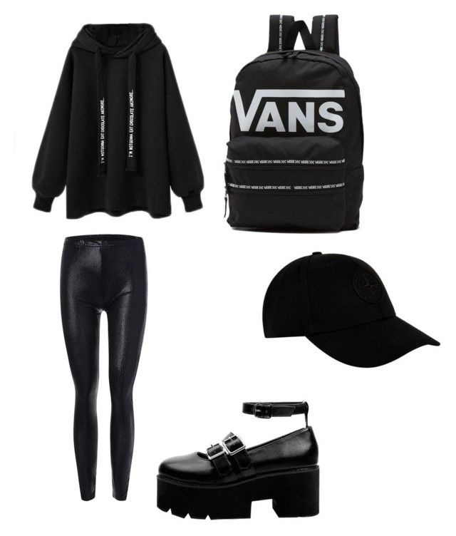 """""""Untitled #103"""" by anais-maria on Polyvore featuring Vans and STONE ISLAND"""