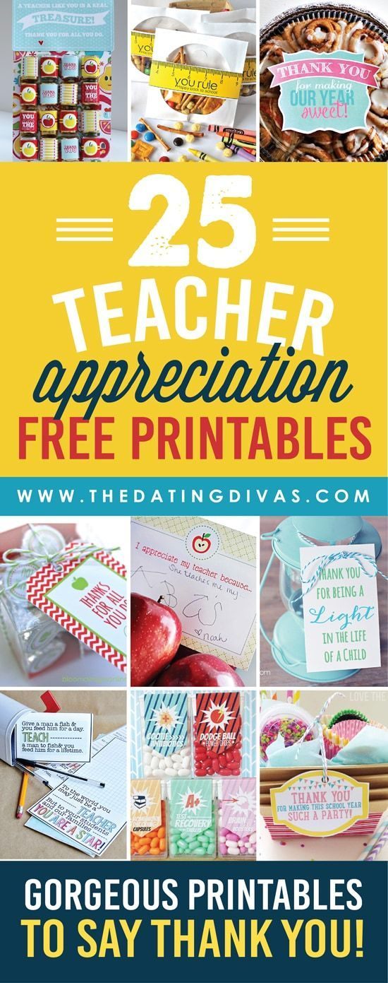 We have come up with the ULTIMATE list of thank you gifts and ideas for teacher appreciation! Free printables, DIY gift ideas, door decorations, and SO much more! #artsandcraftscouncil,