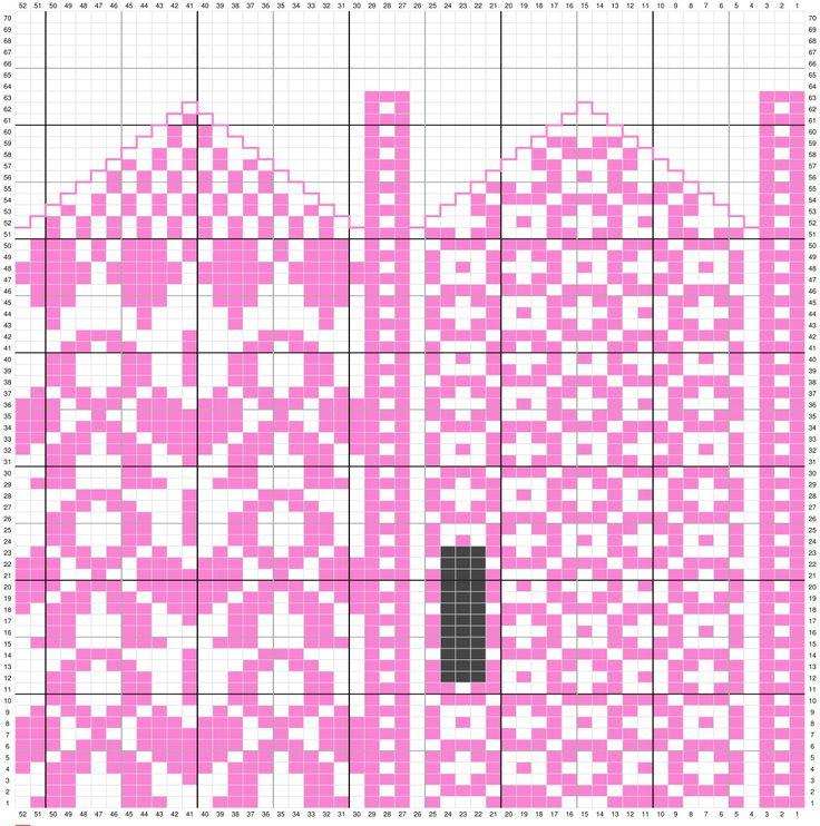 Pink ribbon mittens pattern