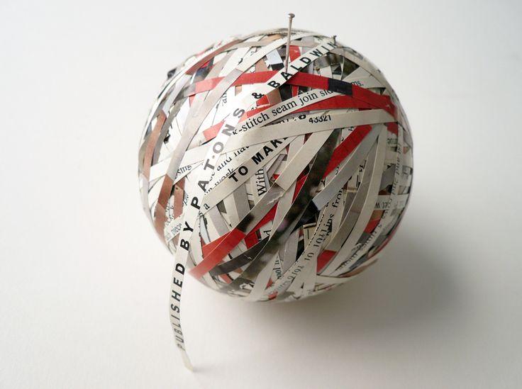 Stefana McClure - BALL OF WOOL - 2009 - Cut paper, circumference 27 cm