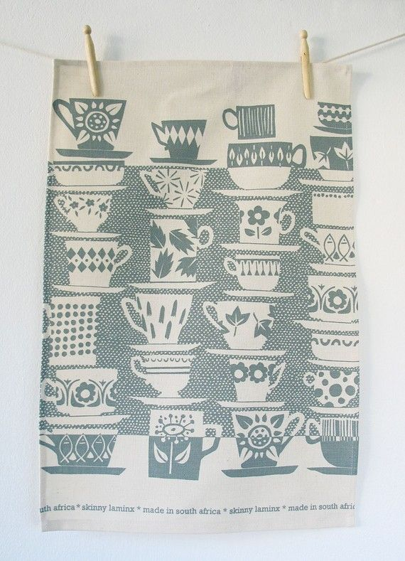 Tea towel - Everyone Came to Tea, in wedgewood - by Etsys skinny laminx,  -cc#Repin By:Pinterest++ for iPad#