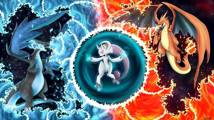 Mega Charizard X Y vs Mega Mewtwo Y by Oeuvres-de-Michiko on ...