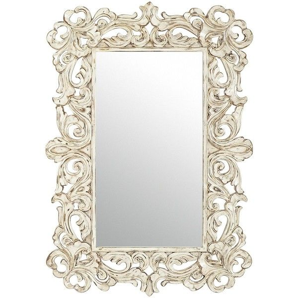 Pier One Fleurs Carved Mirror ($199) ❤ liked on Polyvore