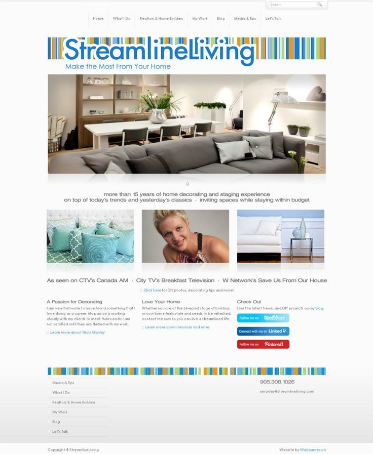 See the full website at www.streamlineliving.com
