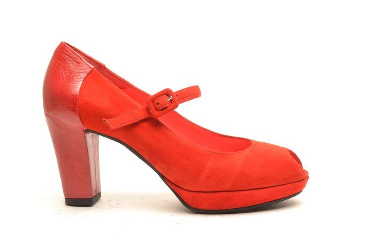 #pasderouge #shoes #summer #suede #red #leather #heel #sandal