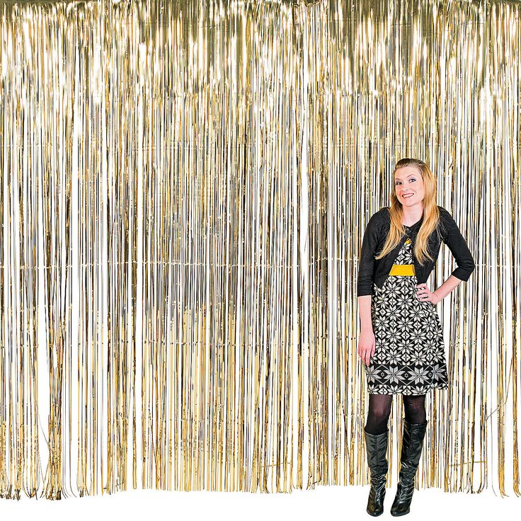 Large Gold Fringe Decorations - OrientalTrading.com This could work for the door and would be cheaper than fabric.....$16.00