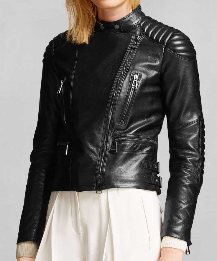 WOW! Padded Shoulders Asymmetrical Zip-up Women's Biker Jacket.Shop this outstanding style of Jacket making it a plus point for your attractive look. Shop Now!